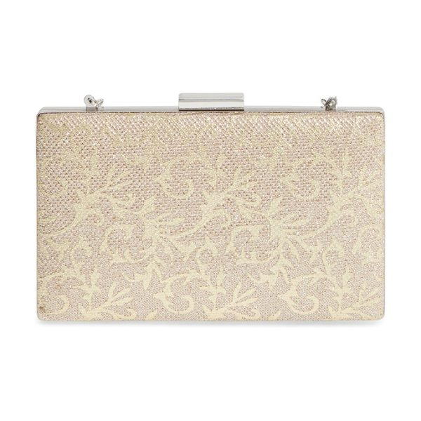 Glint metallic minaudiere in gold - Take your special-occasion ensemble up a notch with this...