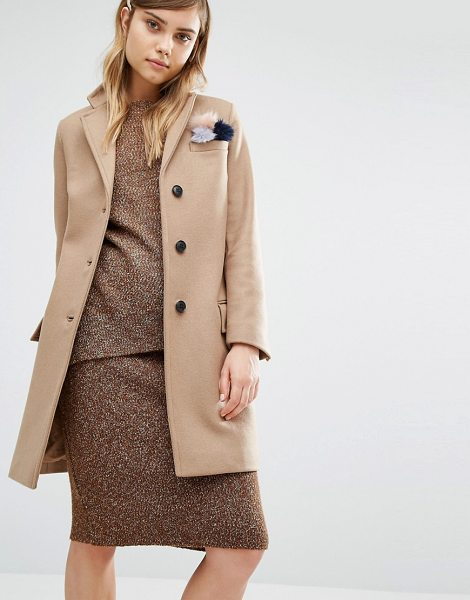 Gloverall Classic Chesterfield Coat in beige