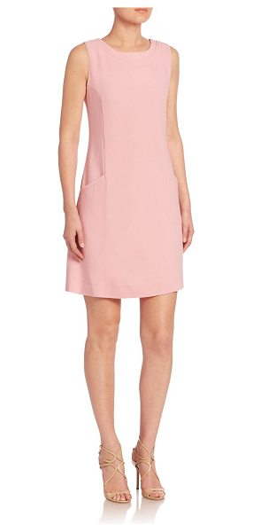 GOAT lovely sleeveless shift dress in blossom - Subtle piping details add depth to this shift dress....