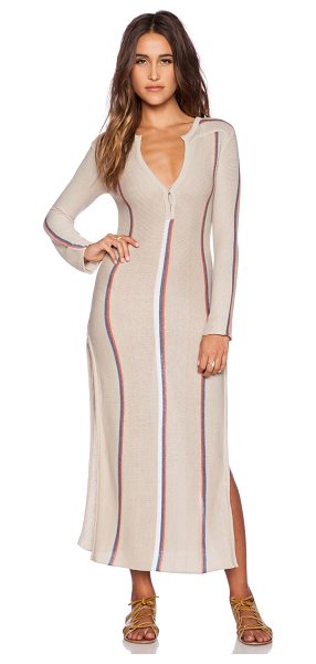 Goddis Andi maxi dress in beige - 50% cotton 50% acrylic. Dry clean only. Front button...