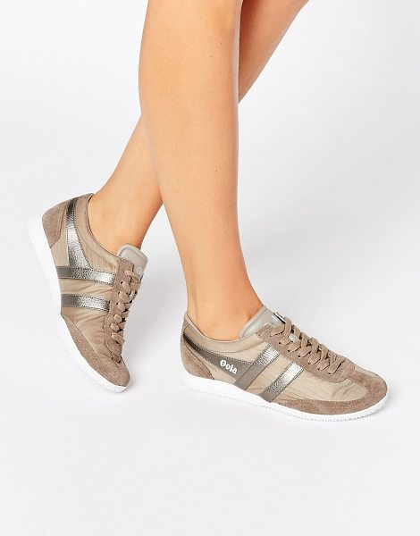 GOLA Wasp Shimmer Runner Sneaker in beige - Shoes by Gola, Textile upper, Lace-up fastening,...