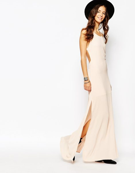 GOLDIE Bliss maxi dress with strap detail in nude - Maxi dress by Goldie Lightweight crepe Round neckline...
