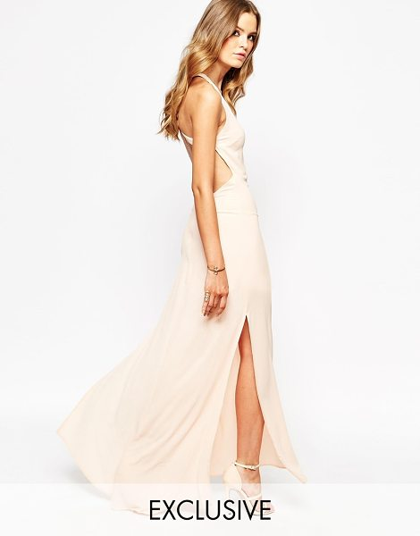 """Goldie Maxi Dress With Open Back in pink - """"""""Dress by Goldie, Lightweight fabric, Scoop neckline,..."""