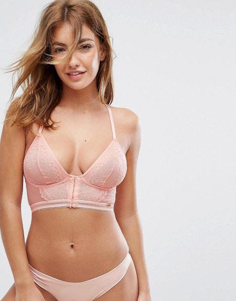 "Gossard Delilah Rose Longline Bralette B-E Cup in cream - """"Bralet by Gossard, Stretch sheer lace, Plunge neck,..."