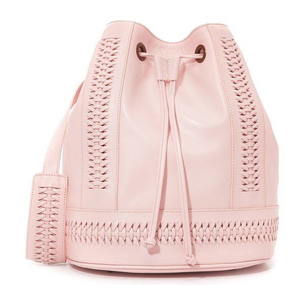 Grace Babette tresse bucket bag in english rose - A large GRACE bucket bag in supple leather, accented...