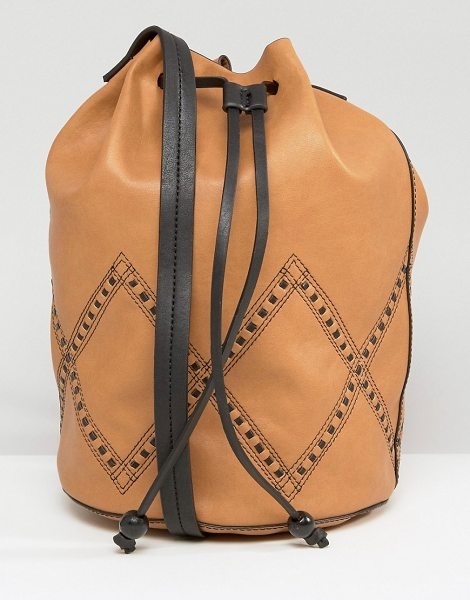 GRACIE ROBERTS Drawstring Bucket Bag - Cart by Gracie Roberts, Faux leather outer, Single...