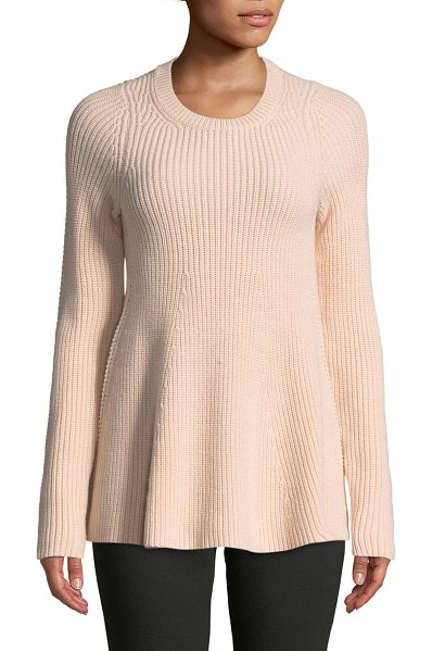 GREY JASON WU Merino Wool Trapeze Sweater - GREY Jason Wu merino wool sweater. Ribbed crew neckline....