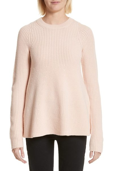 Grey Jason Wu wool trapeze sweater in pale rose - Knit with a delightfully swingy silhouette, this...