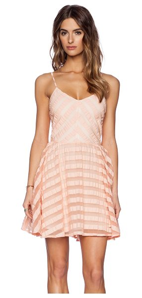 "Greylin Finley Skater Dress in peach - Poly blend. Neckline to hem measures approx 58"""" in..."