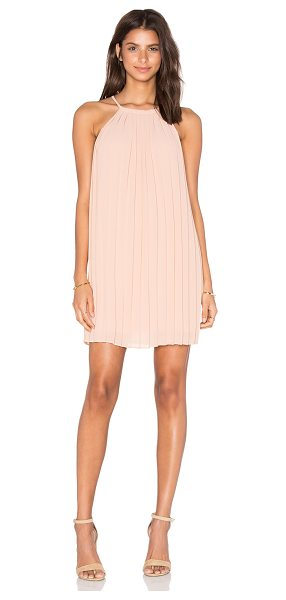 Greylin June Pleated Lace Back Dress in blush - Poly blend. Dry clean only. Fully lined. Pleated fabric....