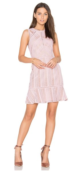 Greylin Kimmy Lace Dress in chalk rose - Self & Lining: 100% poly. Dry clean only. Fully lined....