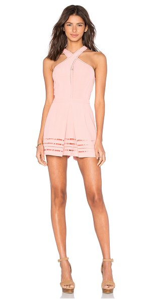 Greylin Millany laser cut romper in blush - Self & Lining: 100% poly. Dry clean only. Back hidden...