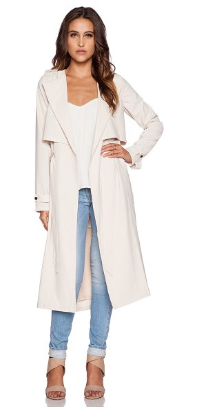 Greylin Pietra trench coat in beige - Self: 95% poly 5% spandexLining: 100% poly. Dry clean...