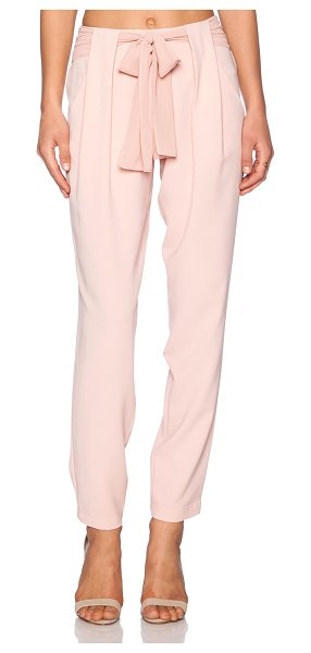 """Greylin Talia belted pants in rose - 100% poly. Dry clean only. 18"""""""" in the knee narrows to..."""