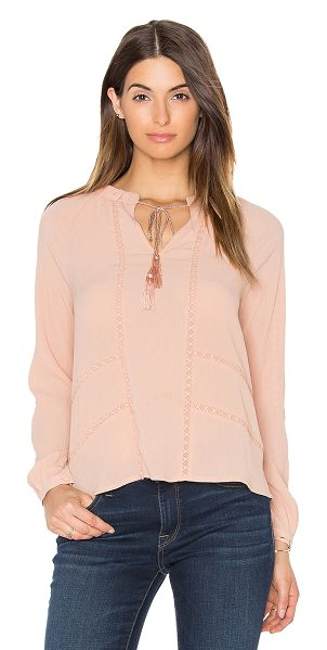 Greylin Trina Pleated Blouse in peach - Self: 100% polyContrast: 100% cotton. Dry clean only....