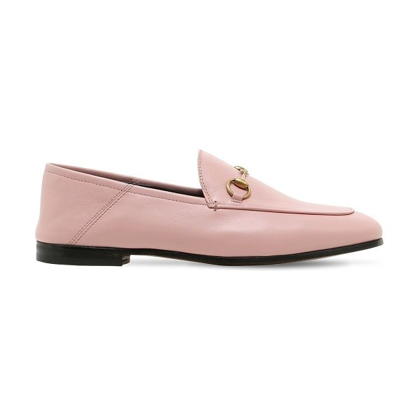 Gucci 10mm brixton leather loafers in light pink
