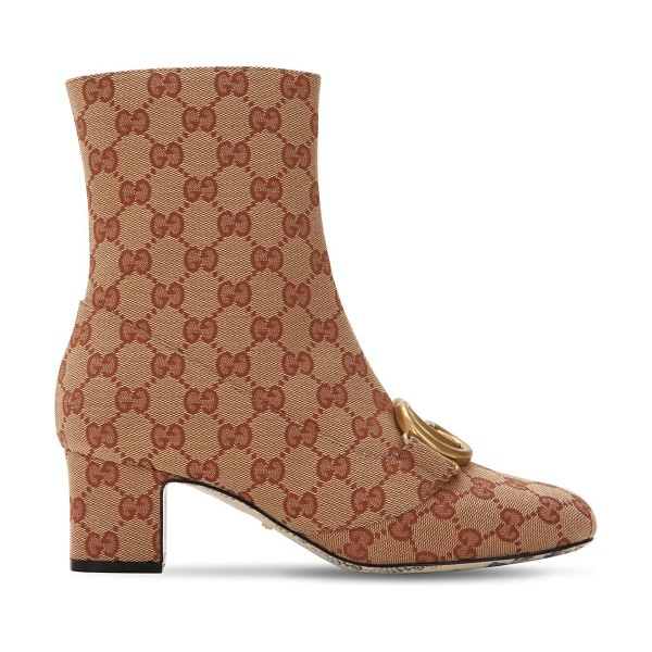 Gucci 55mm gg supreme canvas boots in beige