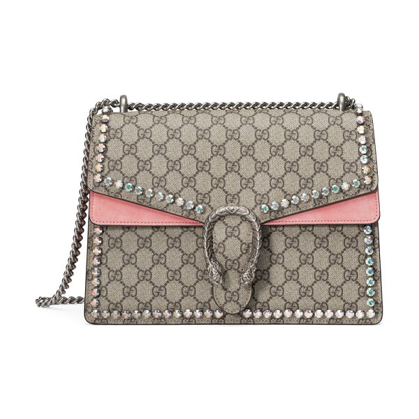 Gucci Dionysus Gg Canvas Chain Shoulder Bag With Crystals  1371c050cc6cf