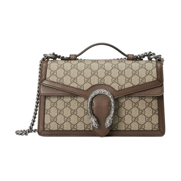 Gucci dionysus gg supreme canvas top handle bag in beige