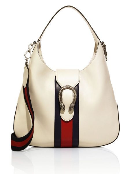 Gucci dionysus leather hobo bag in cream