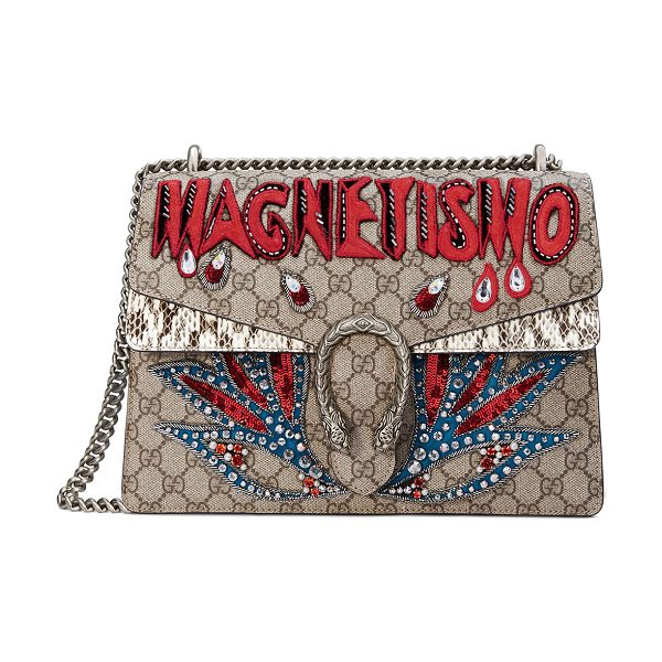 Gucci Dionysus Magnetismo Medium GG Supreme Shoulder Bag in beige - Gucci shoulder bag in GG Supreme canvas, a material with...