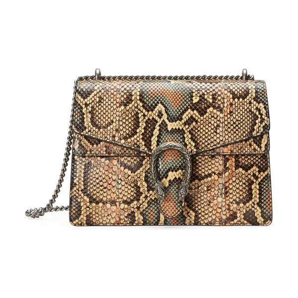 Gucci Dionysus Medium Python Shoulder Bag in beige - Gucci shoulder bag in hand-painted python with antiqued...