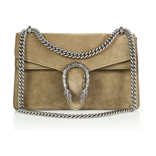 Gucci Dionysus suede shoulder bag in taupe