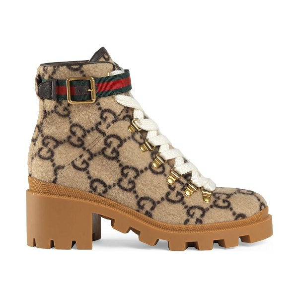 Gucci fabric & rubber boots in beige