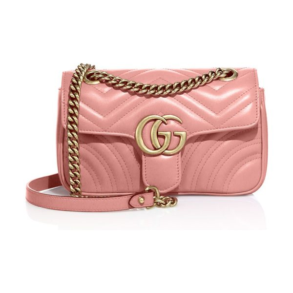 """Gucci gg 2.0 mini quilted leather shoulder bag in perfectpink - Adjustable chain shoulder strap, 11.75"""" or 21.5"""" drop...."""