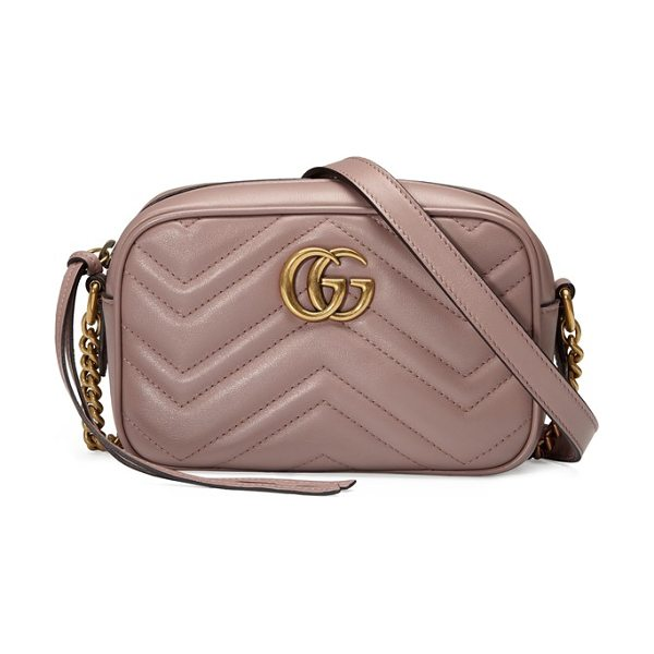 Gucci gg marmont 2.0 matelasse leather shoulder bag in beige - Double-G hardware inspired by a '70s-era design found in...