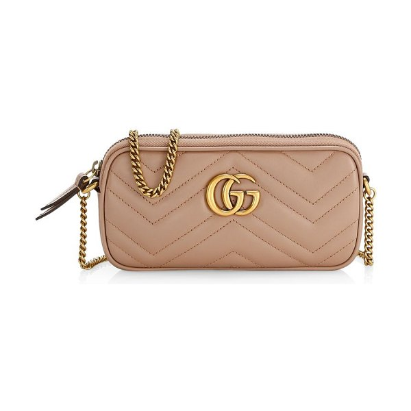 Gucci gg marmont matelassé mini bag in porcelain rose