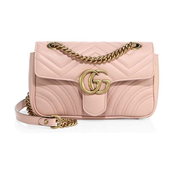 "Gucci mini gg marmont matelasse shoulder bag in perfectpink - Adjustable chain shoulder strap, 11.75"" or 21.5"" drop...."
