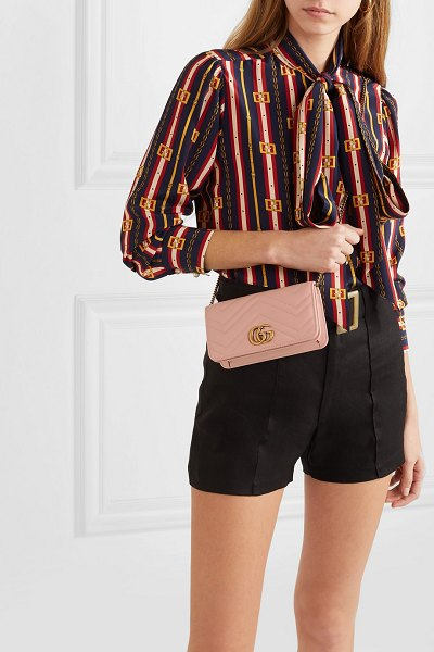 cc0052658b6f77 Gucci Gg Marmont Mini Quilted Leather Shoulder Bag | Nudevotion