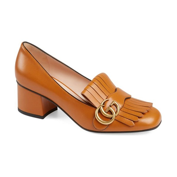 Gucci gg pump in brown