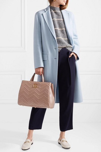 Gucci gg marmont quilted leather tote in taupe - A reference to traditional English gardens, Gucci's...