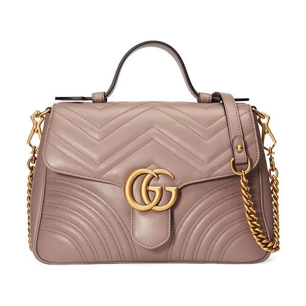 6a1fff5e8c99 Gucci Gg Marmont Small Chevron Quilted Top-Handle Bag With Chain ...