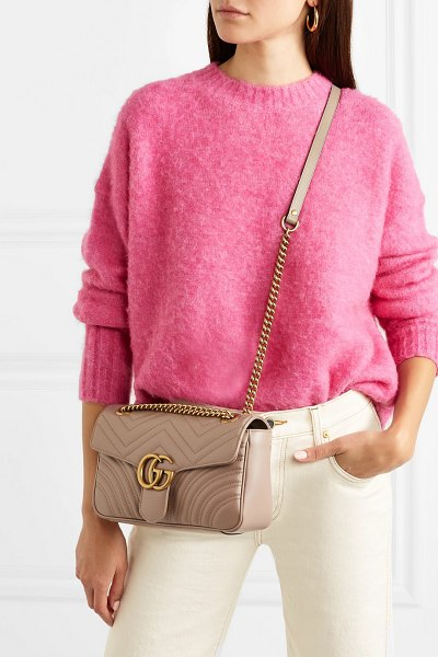 Gucci gg marmont small quilted leather shoulder bag in beige - Gucci's iconic 'GG Marmont' bag is inspired by a belt...