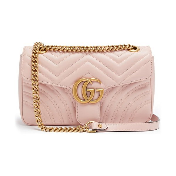 Gucci gg marmont mini quilted-leather shoulder bag in light pink