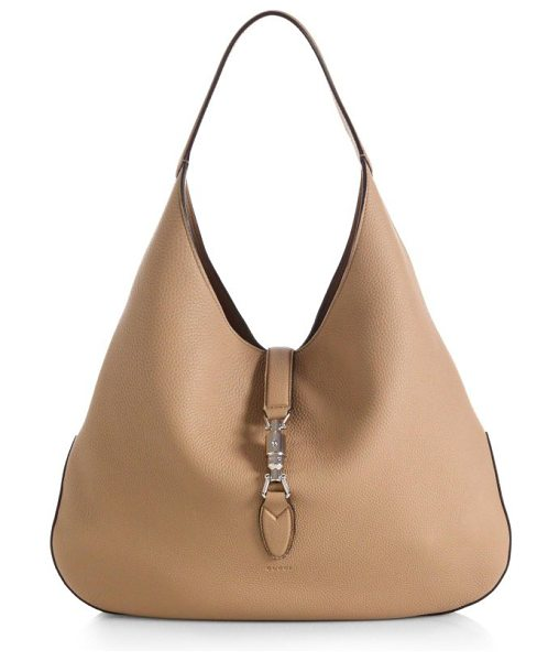 Gucci Jackie soft leather hobo bag in camel