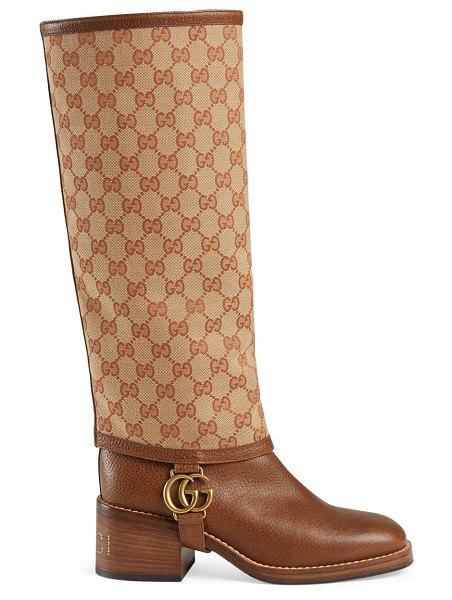 """Gucci lola tall boots in neutral - Heel height, 2"""" (51mm) Shaft height, 15"""" (381mm) Leather..."""