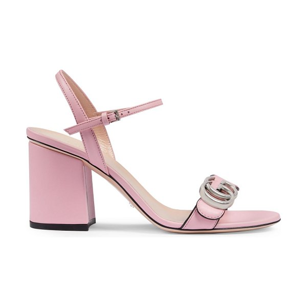 Gucci mid-heel sandals with double g in wild rose