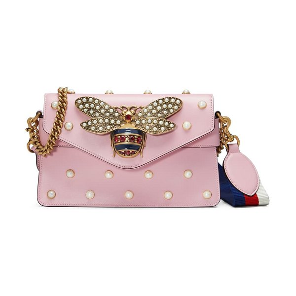 Gucci mini broadway leather shoulder bag in pink