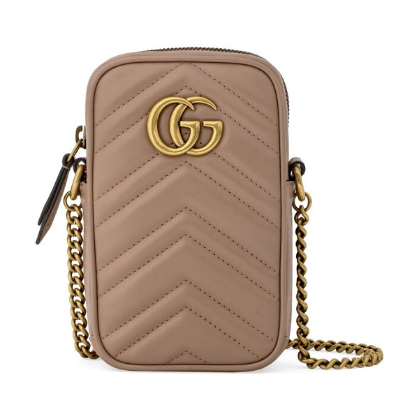 Gucci mini gg marmont 2.0 quilted leather crossbody bag in beige