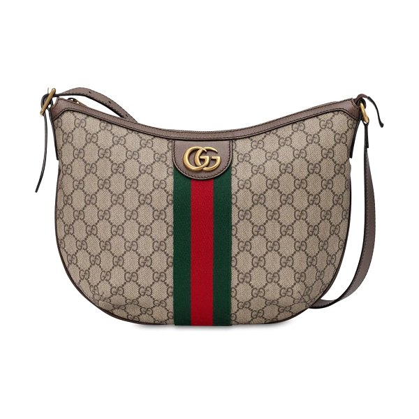 Gucci Ophedia gg supreme shoulder bag in taupe