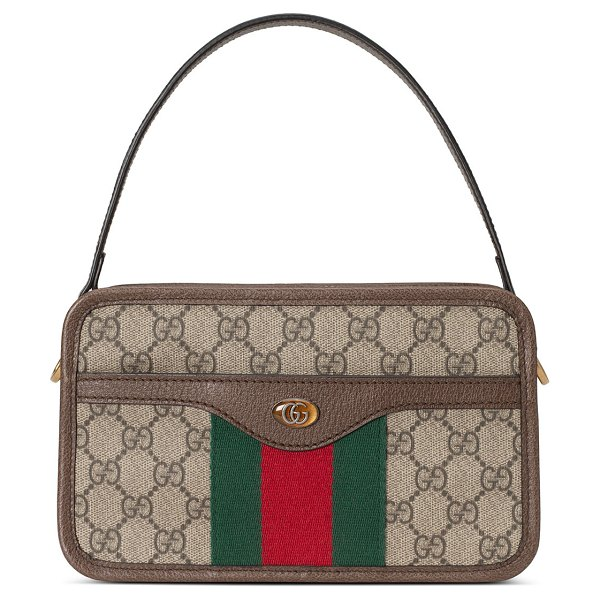 Gucci Ophidia Medium GG Supreme Messenger Bag in light beige