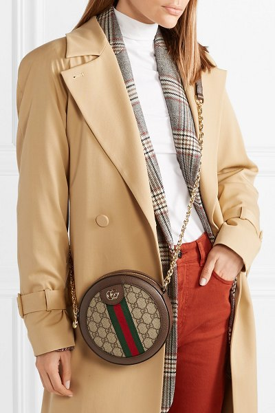 Gucci ophidia mini textured leather-trimmed printed coated-canvas shoulder  bag in beige - 57b57de8c1c9b