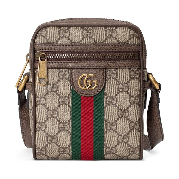 Gucci Ophidia Small GG Supreme Messenger Bag in light beige
