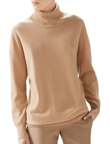"Gucci Oversized cashmere turtleneck sweater in camel - TurtleneckLong sleevesRelaxed fitAbout 28"" from shoulder..."
