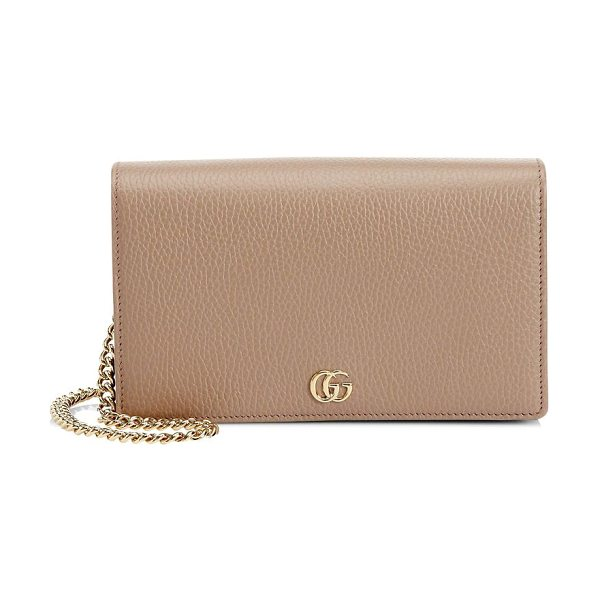4369c255783874 Gucci petite marmont wallet on chain in softrose - Double G.Removable chain  shoulder strap
