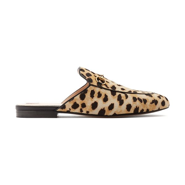 750f0afb1cb6 Gucci Princetown Calf Hair Backless Loafers | Nudevotion